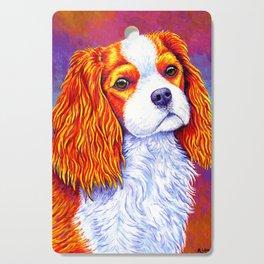 Colorful Cavalier King Charles Spaniel Cutting Board