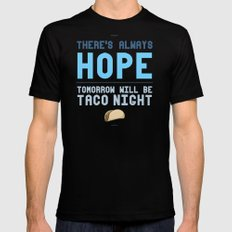 There's Always Hope... Mens Fitted Tee MEDIUM Black