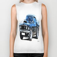 muscle Biker Tanks featuring american muscle  by Vector Art