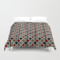 patriotic Duvet Covers featuring Patriotic Wood texture #5 by Juliana RW
