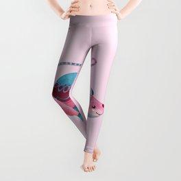 Pink & Blue Pastel Love Mouse Leggings