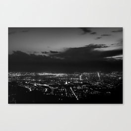 Torino wears black Canvas Print