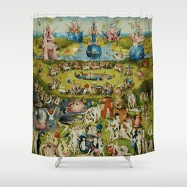 "Hieronymus Bosch ""Garden of Earthly Delights"" Shower Curtain"