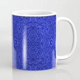 Stare into the Deep Blue Void Abstract Pattern Coffee Mug