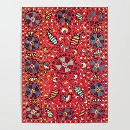 Lakai Suzani Samarkand Uzbekistan Embroidery Print Poster