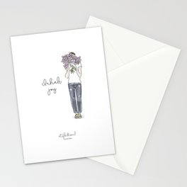 Inhale joy Stationery Cards