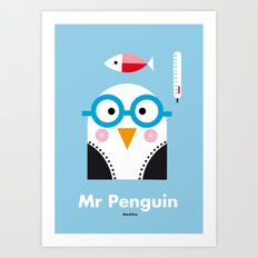 Mr. Penguin Art Print