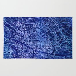 Map of Florence Italy, year 1890 Rug