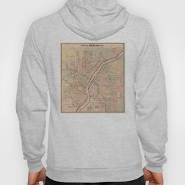 Vintage Map of Rockford IL (1886) Hoody
