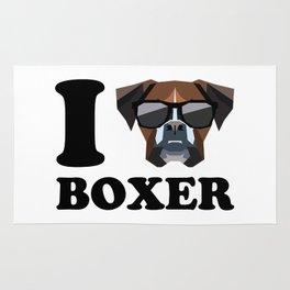 I Love Boxer modern v1 Rug