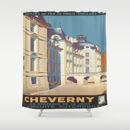 Vintage poster - Cheverny Shower Curtain