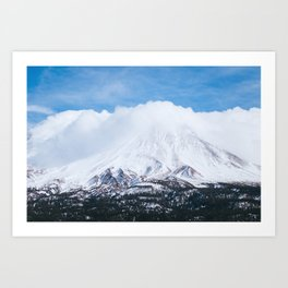 Mount Shasta Winter Photography Print Art Print