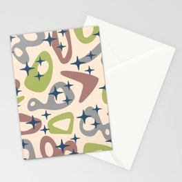 Retro Mid Century Modern Abstract Composition 930 Stationery Cards