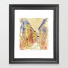 Streets of France Framed Art Print