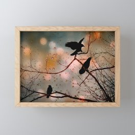 Rainy Day Crows Framed Mini Art Print