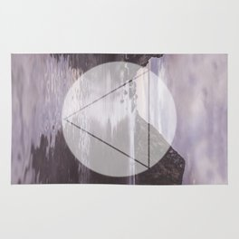 Calm Waters sacred geometry circle triangle Rug
