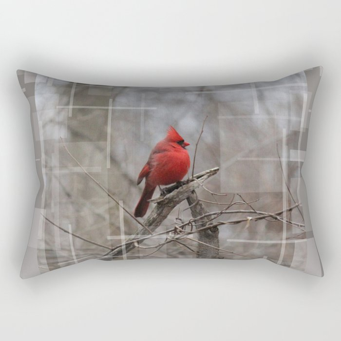 The Cardinal  Rectangular Pillow