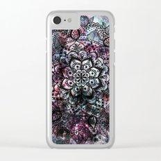 Intergalactic Mandala Clear iPhone Case