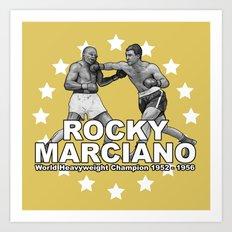 Rocky Marciano Art Print