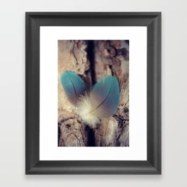 Feather blues Framed Art Print