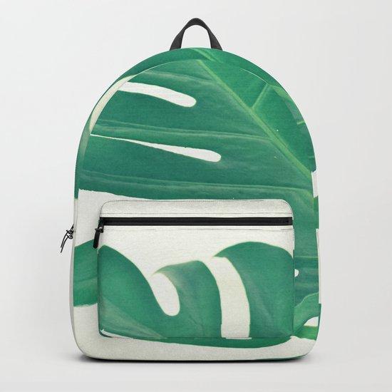 Monstera Backpack