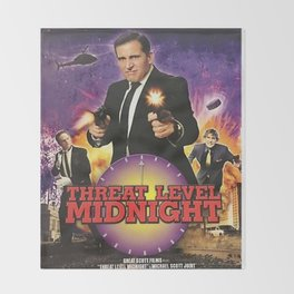 Geng Threat Level Midnight Throw Blanket