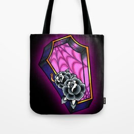 Vacancy - Empty Casket - Tattoo Style Coffin Tote Bag