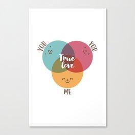 you+you+me Canvas Print