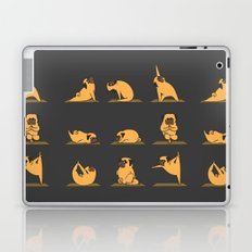 Pug Yoga // Black Laptop & iPad Skin