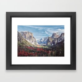 Tunnel View Yosemite Valley Framed Art Print