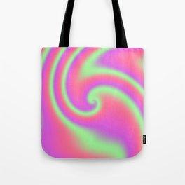 Tutti Frutti Ribbon Candy Fractal Tote Bag
