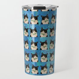 Black & White Cat Travel Mug