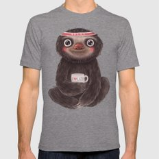 Sloth I♥lazy MEDIUM Mens Fitted Tee Tri-Grey