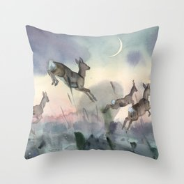 The Sunrise race Throw Pillow
