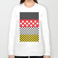 minnie mouse Long Sleeve T-shirts featuring Minnie by AmadeuxArt