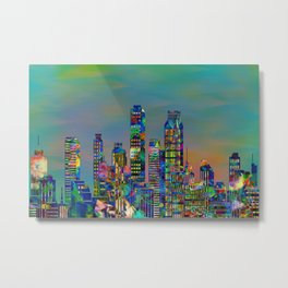 Graffiti City - landscape format Metal Print