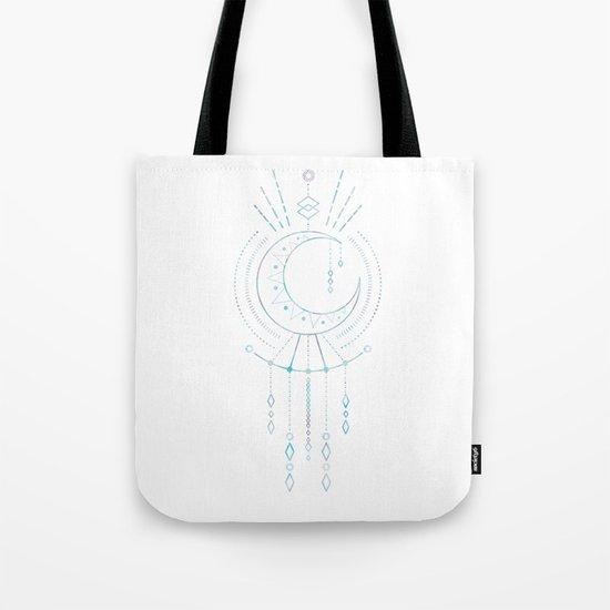 Mandala Crescent Moon Tote Bag