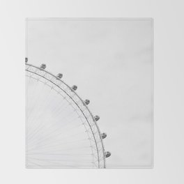 London Eye Monochrome Throw Blanket