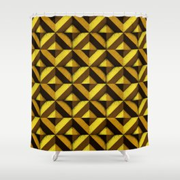 Concrete wall - Sun yellow Shower Curtain
