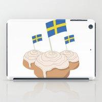 swedish iPad Cases featuring Swedish Buns  by Salina Sees London