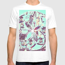 Los Angeles Ferris Wheel Abstract Mosaic T-shirt