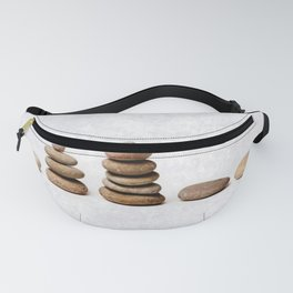 Zen stones in a row Fanny Pack