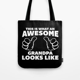 Awesome Grandpa Funny Quote Tote Bag