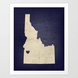 Boise, Idaho Art Print