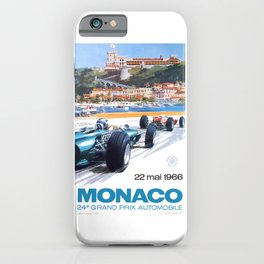 1966 MONACO Grand Prix Racing Poster iPhone Case