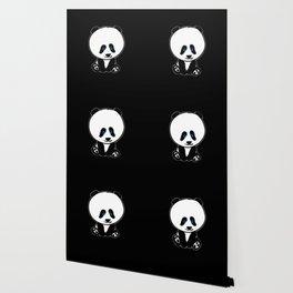 Chalkies panda color black Wallpaper