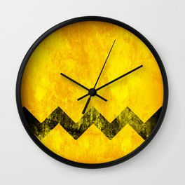 Distressed Charlie Brown Wall Clock