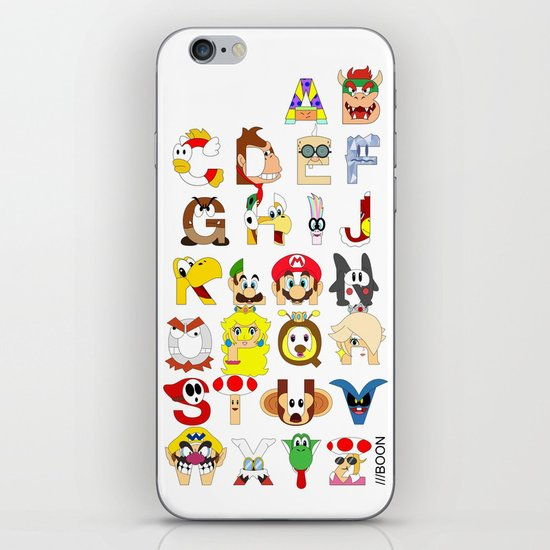 Super Mario Alphabet iPhone & iPod Skin