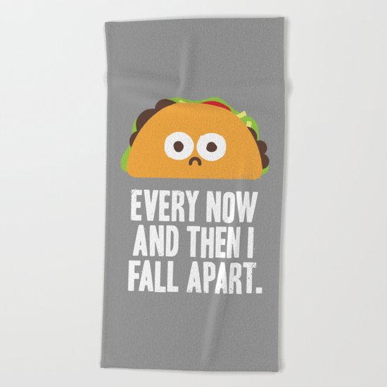Taco Eclipse of the Heart Beach Towel