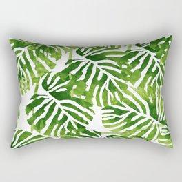 Tropical Leaves - Green Rectangular Pillow